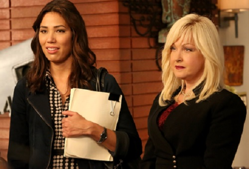 Michaela Conlin and Cyndi Lauper