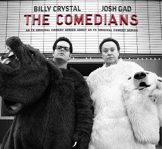 Comedians Josh Gad and Billy Crystal
