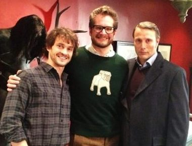 Bryan Fuller with his show's two stars