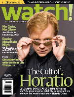 Horatio Caine on cover of CBS Watch Magazine