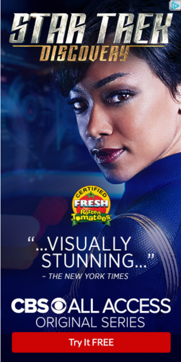 Star Trek: DIscovery ad